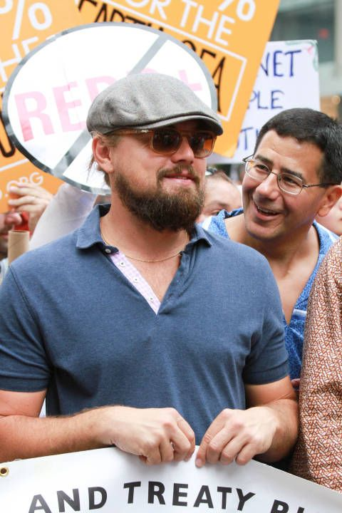 Leonardo DiCaprio attends the People's Climate March on Sept. 21, 2014, in New York City.