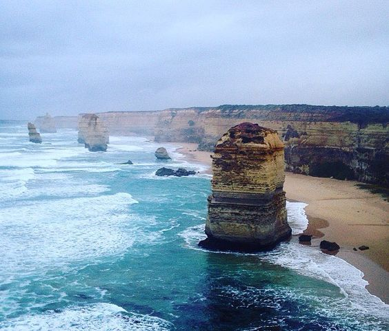 Not a bad way to start the day after sleeping in the carpark #greatoceanroad #12apostles #adventure #victoria by rebeccaann14