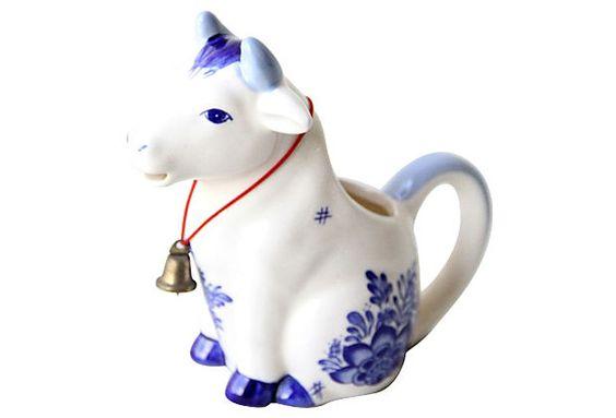 Delftware Cow Creamer on OneKingsLane.com