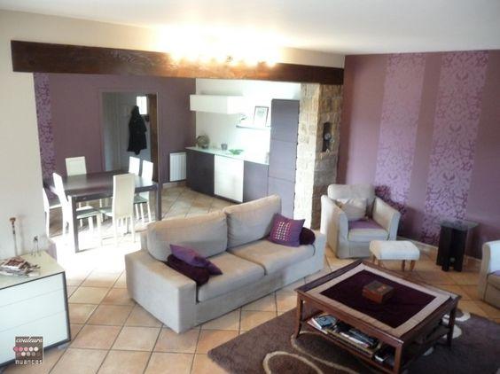 Deco Salon Moderne Violet | 4 panneaux | Pinterest