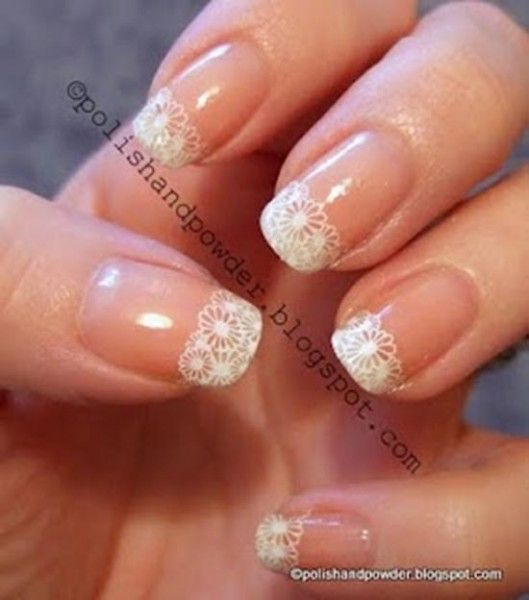 Unghie Sposa Con Nail Art Pizzo Bride Nails With Lace Wedding Nail Art