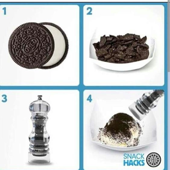 Crushed Oreos for ice cream
