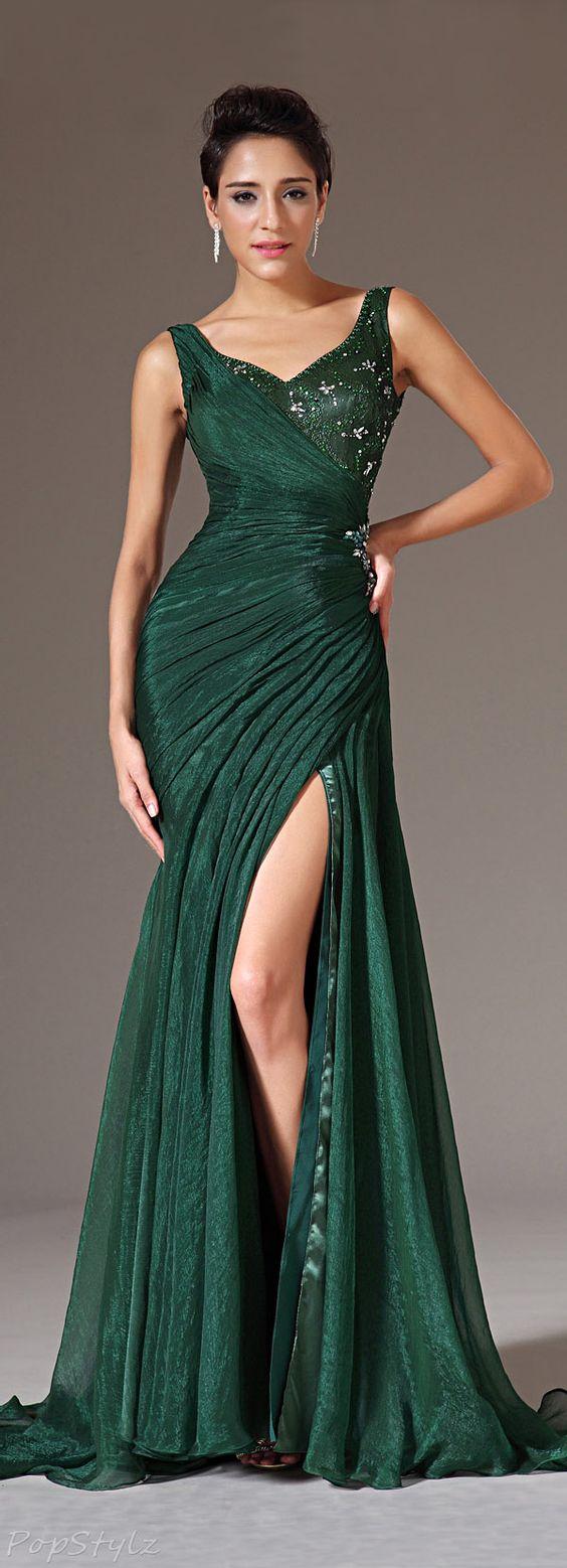 eDressit 00145704 Pleated Silk Chiffon Evening Gown