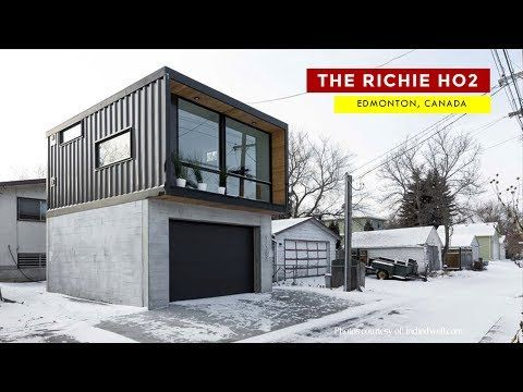The Ritchie Ho2 Honomobo Laneway Container Home In Edmonton Youtube Container House Shipping Container Homes Shipping Container