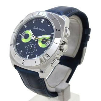 Paul Smith - Moving Eyes Chronograph (Navy Blue with Lime Green Face)