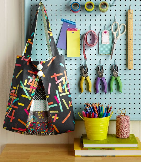I want the peg board for my card making stuff.  Link below has to do with the bag and how to order.