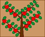 Presidents tree project from Enchanted learning - each leaf represents a president.
