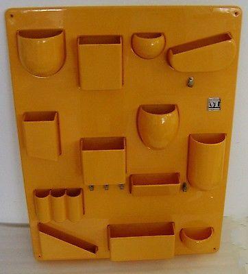 details about iconic vtg 70s yellow orange utensilo vitra. Black Bedroom Furniture Sets. Home Design Ideas