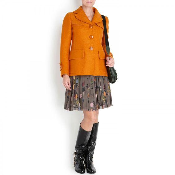 Wool coat, Short, Harvey Nichols Store View