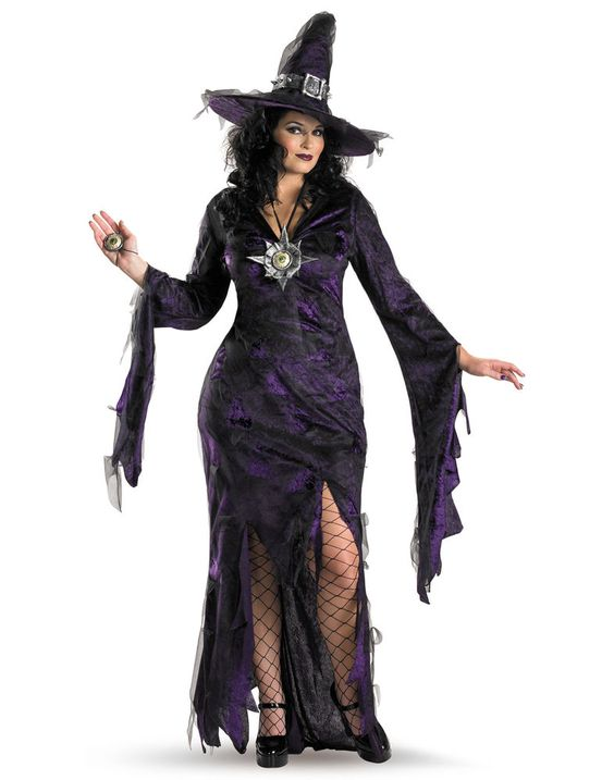 Details about Sorceress Witch Plus Size Sexy Gothic Gown Halloween - halloween costume ideas plus size