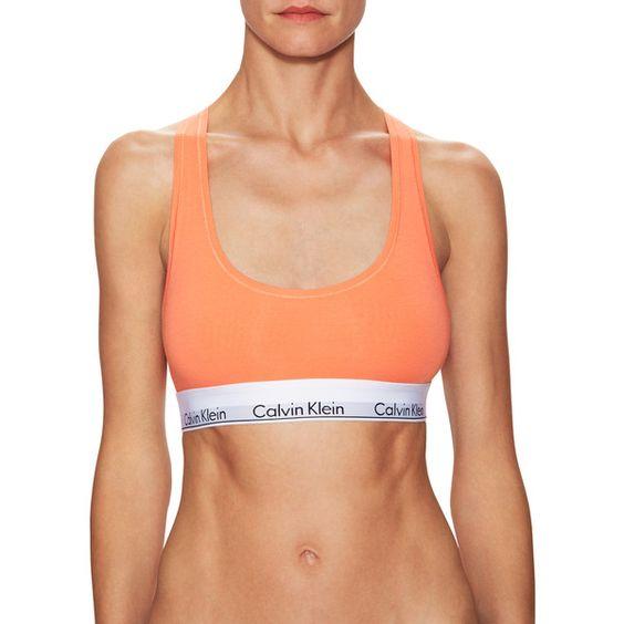 Calvin Klein Underwear Women's Modern Cotton Wirefree - Size S ($17) ❤ liked on Polyvore featuring multi and calvin klein underwear