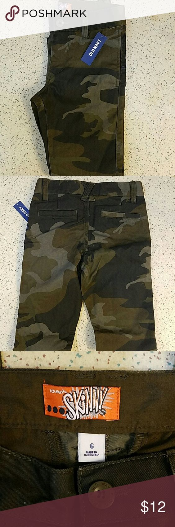 Camouflage skinny jeans (boy) Camouflage skinny jeans. Brand new with tags. Size 6 in little boys. Old Navy Bottoms Jeans