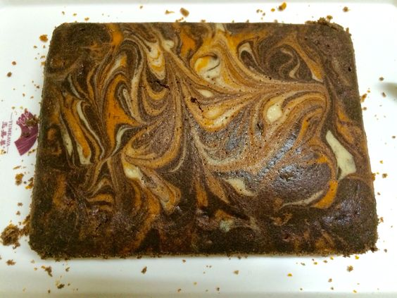 3 color marble cake