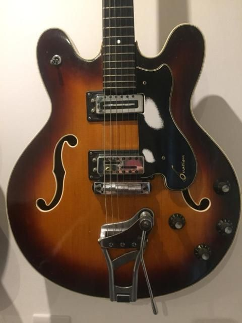 Very Quirky Guitar From The Late 60s These Were In Ovation S First Line Of Electric Guitars The To Electric Guitar Ovation Guitar Guitar