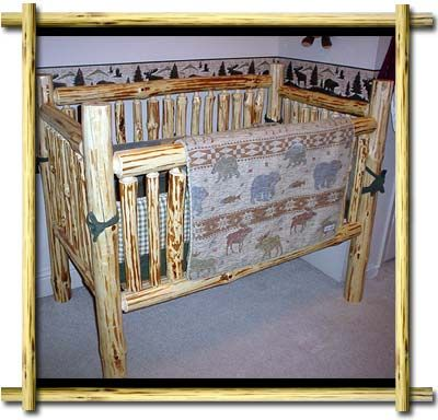 Rustic Baby Cribs And A Log Furniture Rustic Log Cabin
