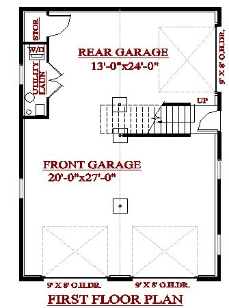 Cadsmith 3 bay garage with 2 bedroom apartment over plan for Open floor plan garage apartment