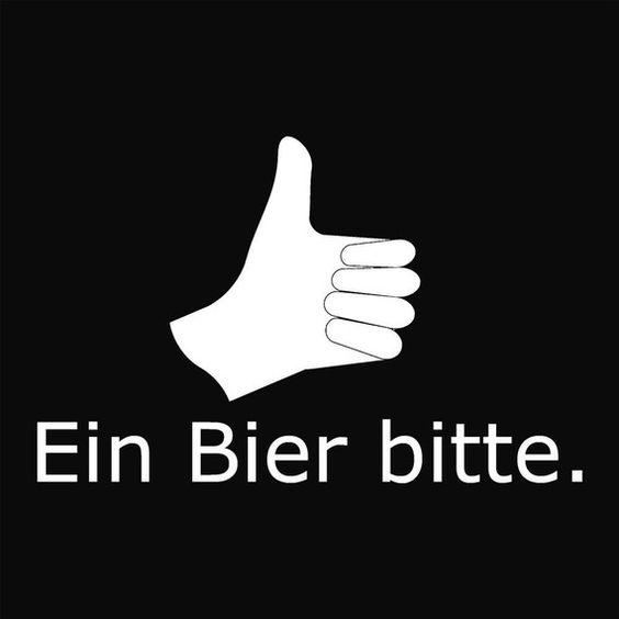 how to say beer please in german