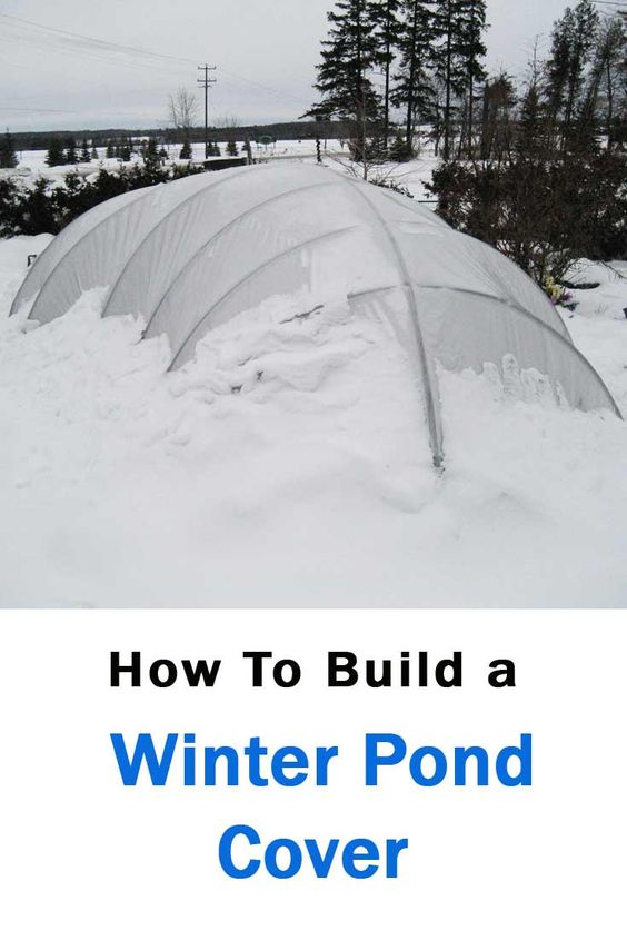 A winter pond cover is a simple structure that helps to for Koi pool cover