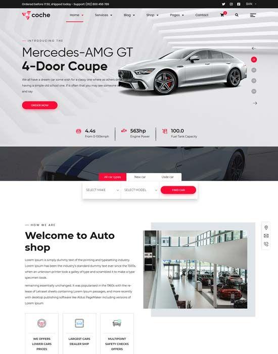 98 Best Car Auto Website Templates Free Premium Freshdesignweb Car Rental Website Website Template Free Website Templates