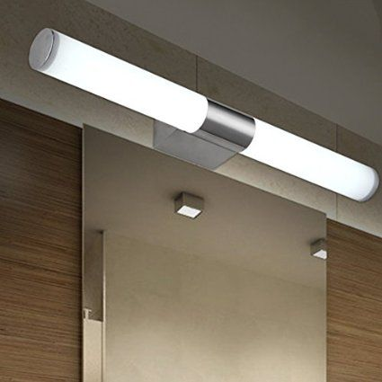 Fuloon Modern Brief Tube Stainless Steel LED Wall Light Make Up Lighting Bath