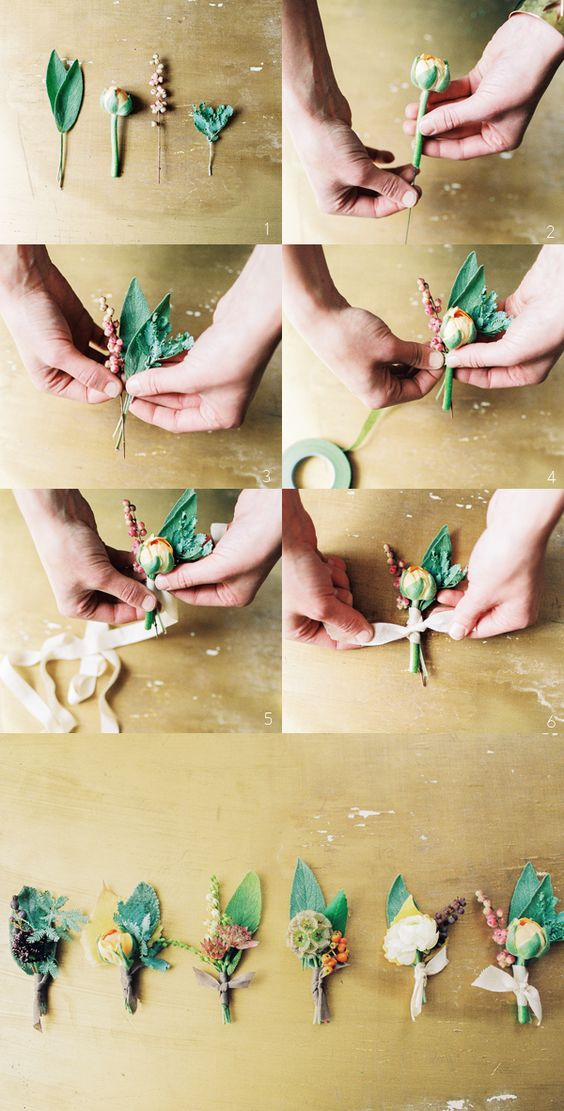 HOW TO WEDDING BOUTONNIERES
