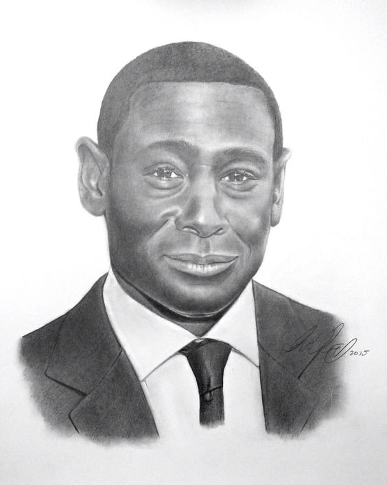 Commission work (portrait of David Harewood)