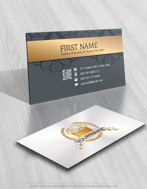 Exclusive Design Ribbon And Gift Logo Free Business Cards Gift Logo Business Card Design