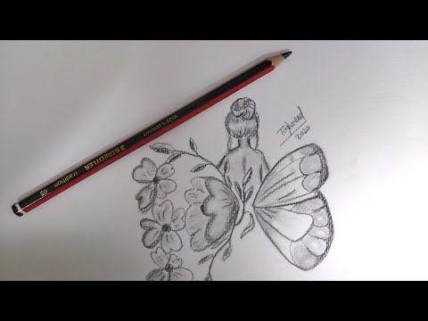 Art Pencil Sketch رسومات سهلة و بسيطة Cool Drawings Easy كيف ترسم فراشة بطريقة تعبيرية وسهلة Youtube Butterfly Drawing Pencil Drawings Surrealism Drawing