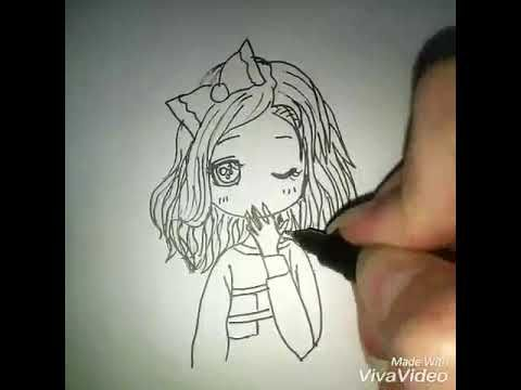 رسم بنت انمي كيوت سهلة بسيطة ورائعة للمبتدئين تعلم ترسم انمي بسهولة رسم Poor Children Female Sketch Art