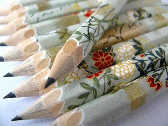 You can never have too many pencils! ~~ pencils made with japanese paper set of 10 in a gift by maoiliosa