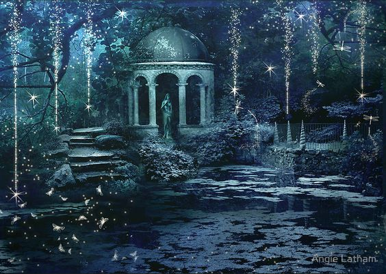 """""""The Midnight Garden"""" Posters by Angie Latham 