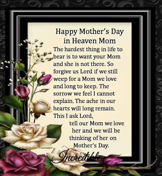 Happy Mother S Day In Heaven Mom Mothers Day Happy Mothers Day Mothers Day Quotes Happy Mother Mother S Day In Heaven Happy Mothers Day Happy Mother Day Quotes