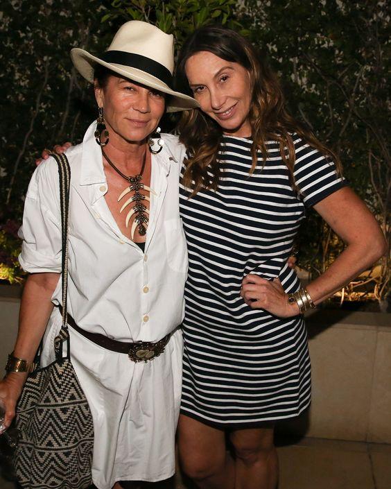 Lisa Eisner and Jacqui Getty