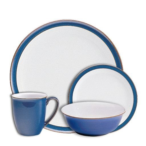 Imperial Blue Tableware Set 16 Piece Blue Dinnerware Sets Blue