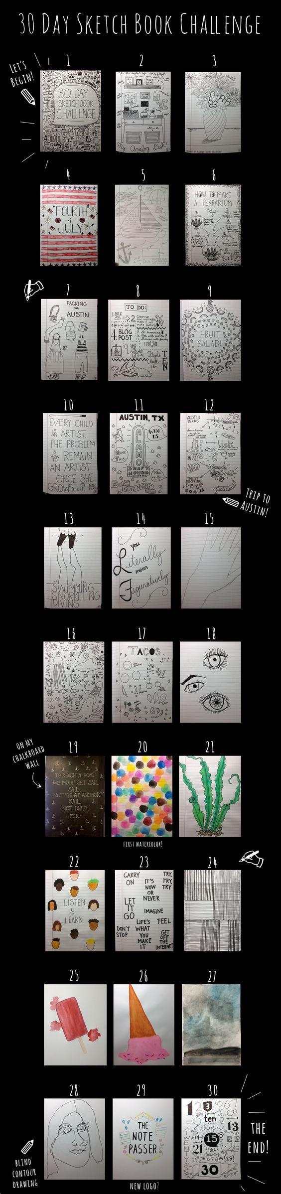 30 Day Sketchbook Challenge