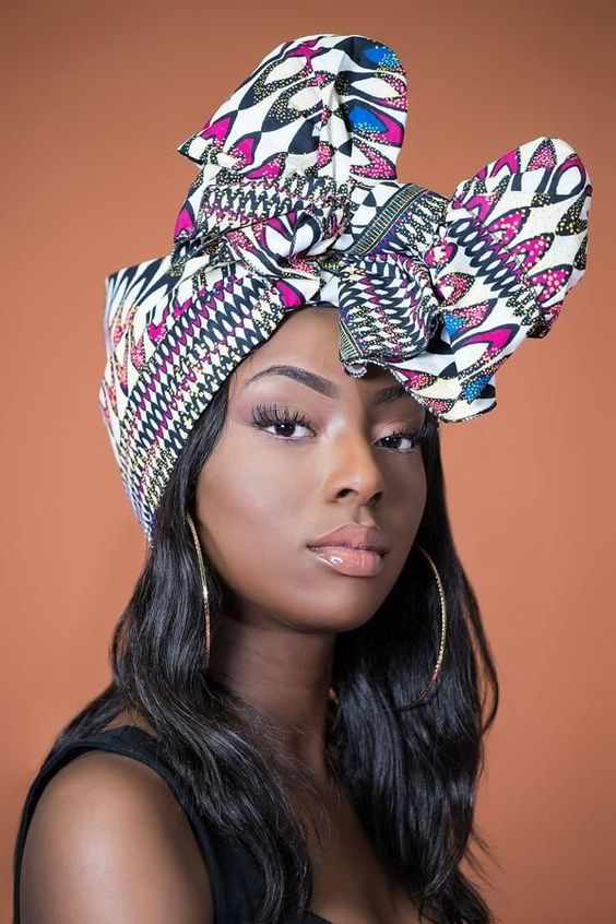 AFRICAN PRINT SAFFI HEADWRAP