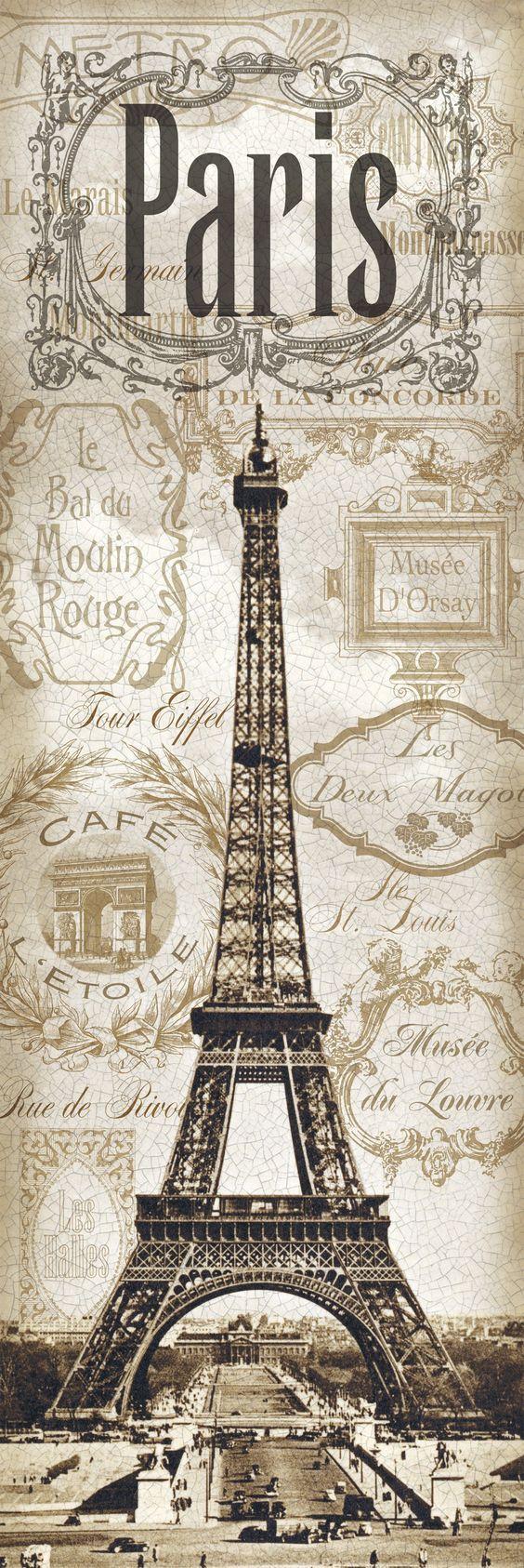 Memories of paris left my heart in paris pinterest - Poster tour eiffel ...