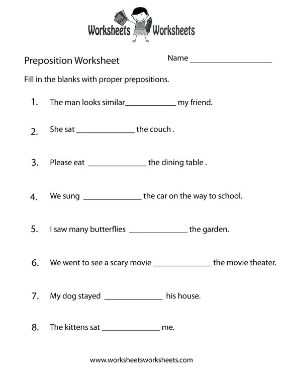 preposition worksheets for grade 1 with answers 427 free preposition worksheets teach. Black Bedroom Furniture Sets. Home Design Ideas