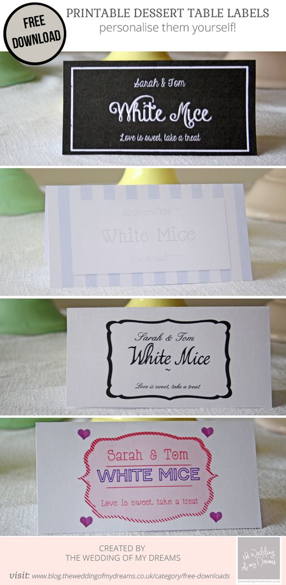 dessert table labels template free download wedding label templates templates free and. Black Bedroom Furniture Sets. Home Design Ideas