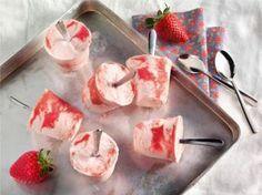 Erdbeer-Sahnejoghurt-Eis