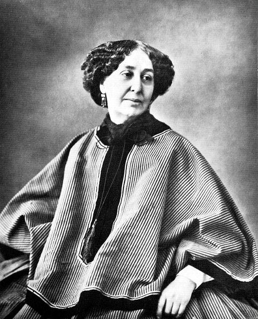 Félix Nadar, George Sand. French writer and intellectual who wore sometimes dressed as a man and had an affair with Chopin. She also wrote some amazing books!