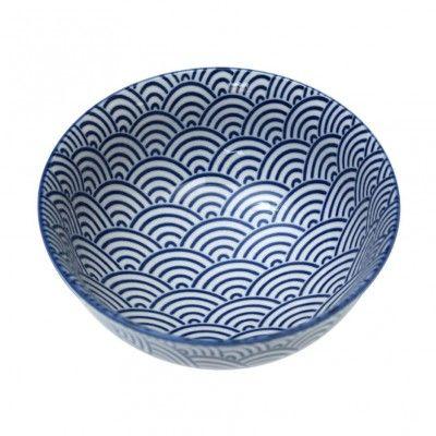 Japanese Bowl - Navy Waves