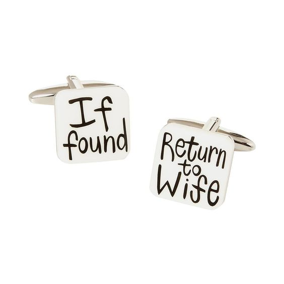 Silver 'If Found' cufflinks http://picvpic.com/men-accessories-cufflings/silver-if-found-cufflinks?ref=ku56GN