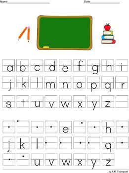 practice writing lower case letters