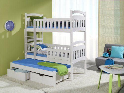 Dominic 3 Triple Bunk Bed Made From Pine Wood Bunk Beds Bed Triple Bunk Bed