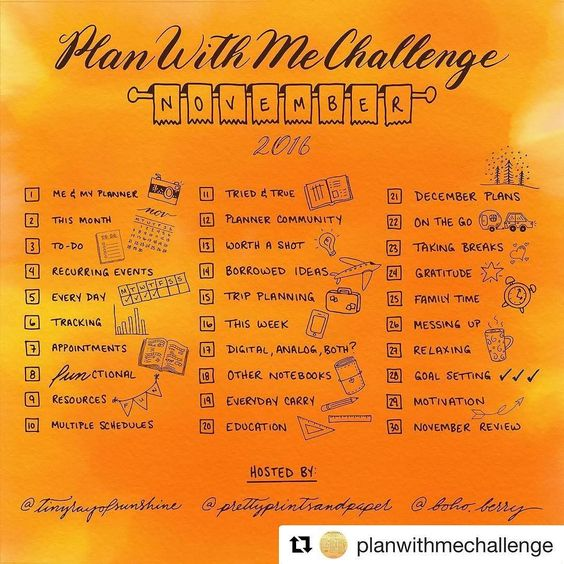 I know I have a lot of catch up to do but I'm not giving it up. #Repost @planwithmechallenge with @repostapp  Welcome to the November #PlanWithMeChallenge!Hosted by Kim @tinyrayofsunshine Jessica @prettyprintsandpaper and Kara @boho.berry the #PlanWithMeChallenge is a way for us to share the HOW and WHY of our planning systems each month.-ALL planner types are welcome to join in the fun!-Heres how to participate:-1. Repost this graphic on social media along with the #PlanWithMeChallenge…