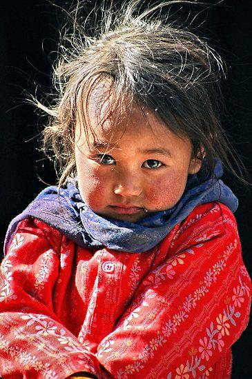Tibetan Tribal girl-Photo by Tim Buckley: