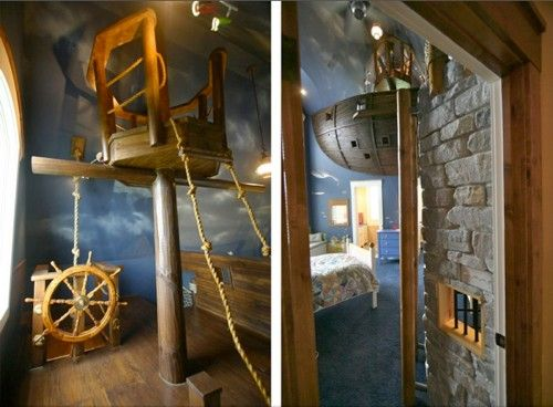 Most awesome kids rooms Pirate ship room for a happy young pirate