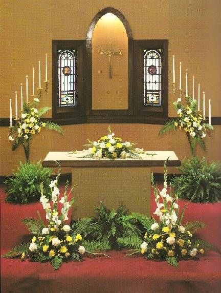 church wedding altar decoration ideas background wallpaper