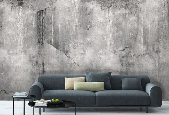 wallpaper WEATHERED CONCRETE Interiors Pinterest